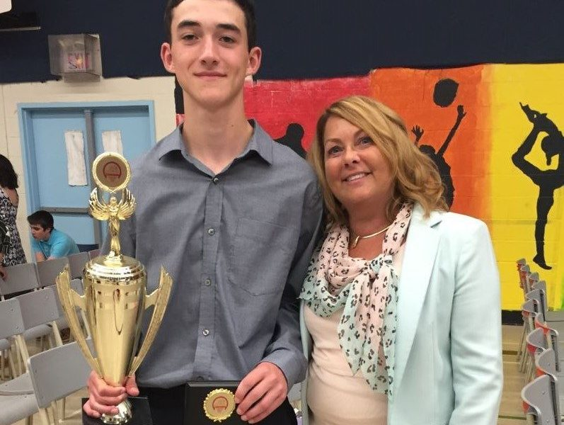 Connor Duggan - Outstanding Student Award Winner (Cunard Jr. High)
