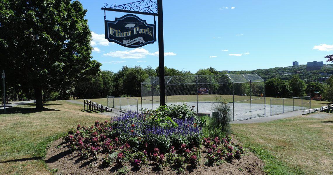 Flinn Park with babseball diamond