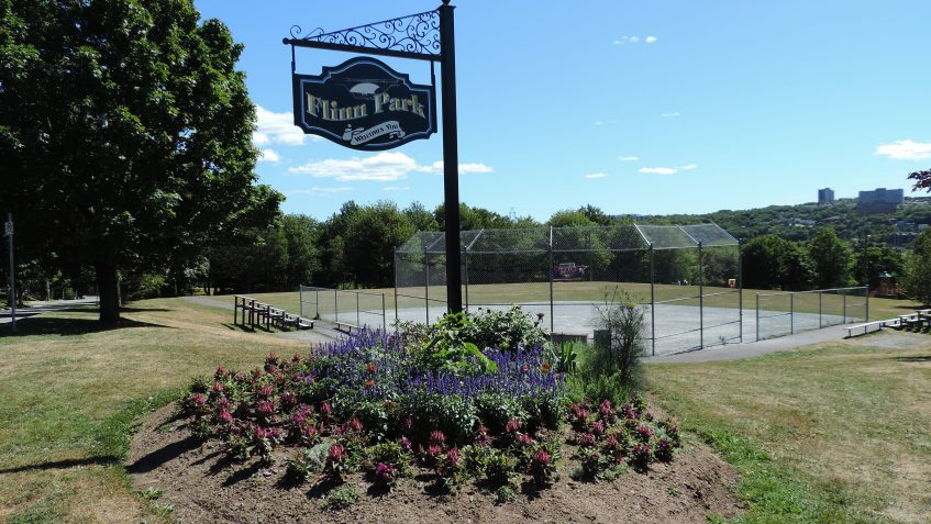 Flinn Park with babseball diamond