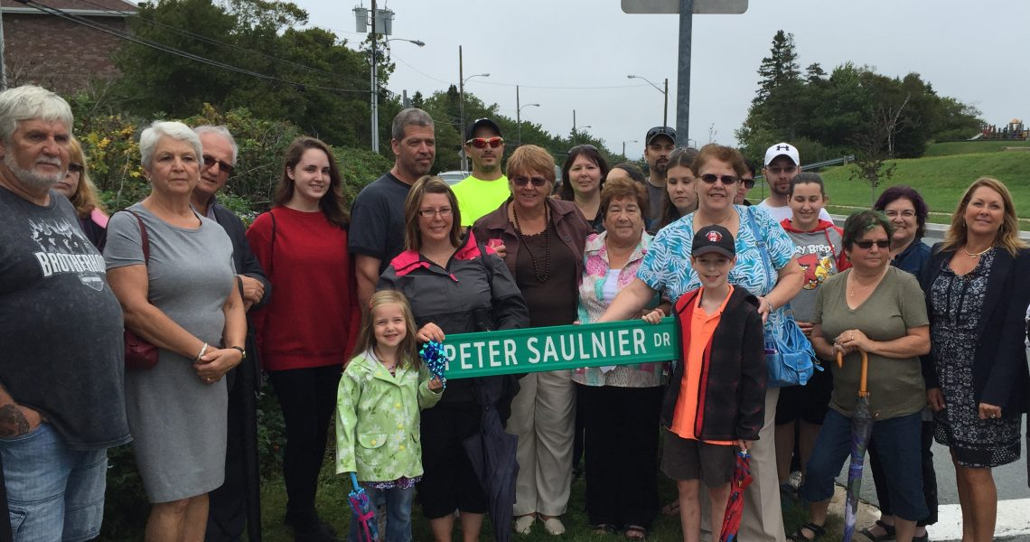 Renaming street in district after Peter Saulnier