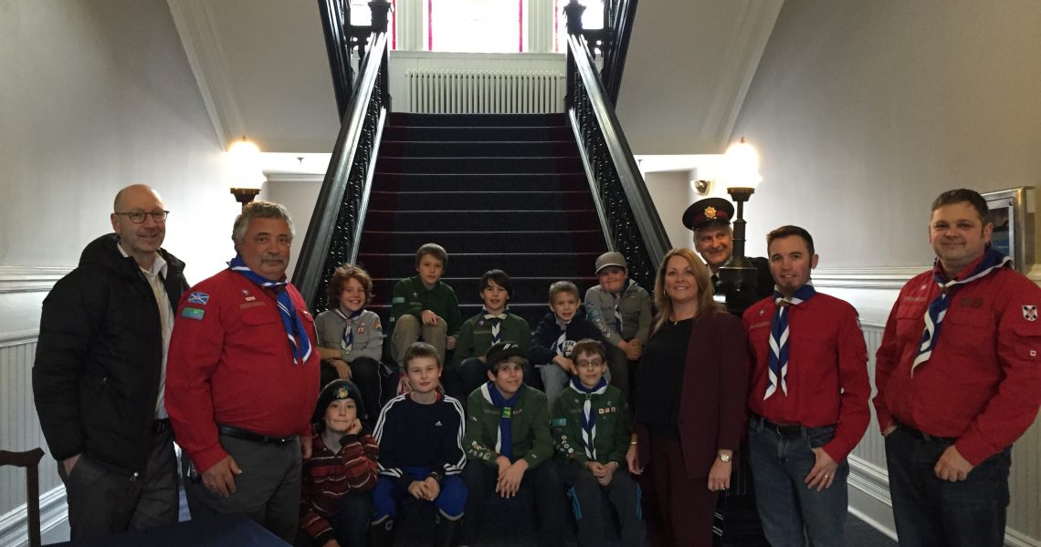 Welcoming 44th HALIFAX Scout Troop